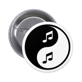 Yin Yang Musik Anstecknadel