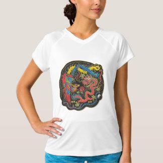 Yin Yang Phoenix und Drache-Leistungtech-Shirt T-Shirt
