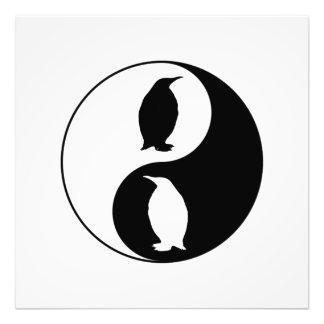 Yin Yang Pinguin Fotodruck