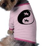 Yin Yang Reiten Haustiershirt