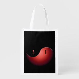 yin Yang - Rot Wiederverwendbare Einkaufstasche