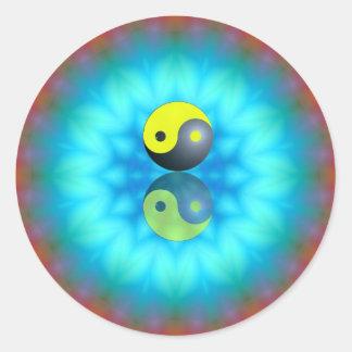 Yin Yang Runder Aufkleber