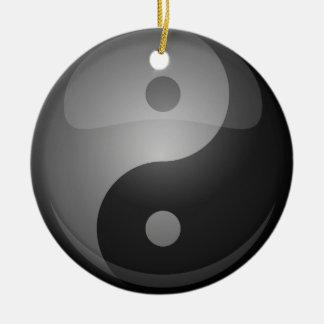 Yin Yang Rundes Keramik Ornament