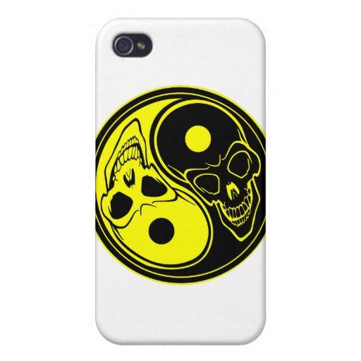 Yin-Yang Schädel-Tätowierung iPhone 4/4S Hüllen