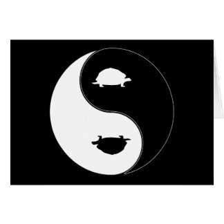 Yin Yang Schildkröte Grußkarte