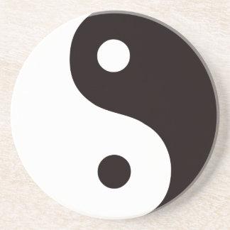 Yin-Yang-Schwarz/Weiß Getränkeuntersetzer
