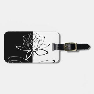 Yin Yang Schwarz-weiße Lotos-Blüte Kofferanhänger