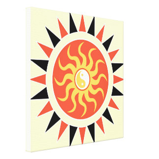 Yin Yang Sonnenschein Leinwanddruck