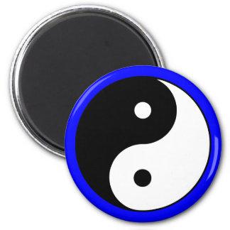 Yin Yang Symbol-Blau-Magneten Runder Magnet 5,7 Cm