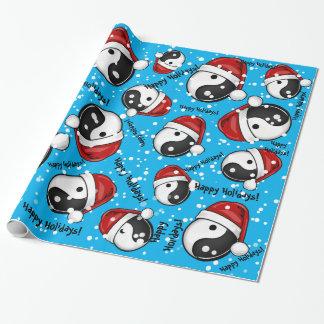 Yin Yang Symbol-Feiertags-Art Geschenkpapier