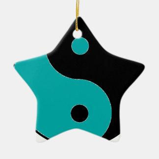 YIN YANG Symbol Keramik Stern-Ornament