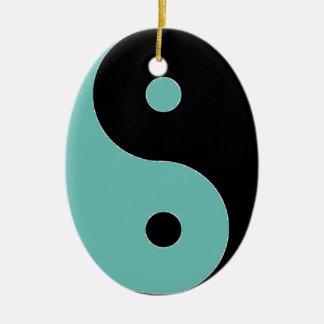 YIN YANG Symbol Ovales Keramik Ornament