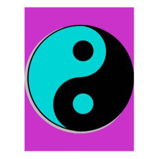 Yin Yang Symbol Postkarte