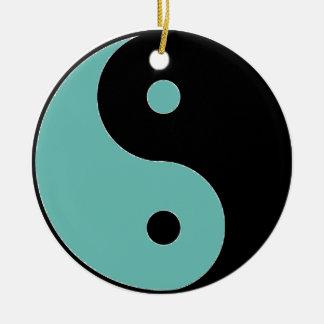 YIN YANG Symbol Rundes Keramik Ornament
