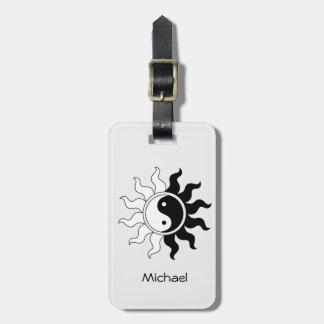 Yin Yang Symbolsonne Kofferanhänger