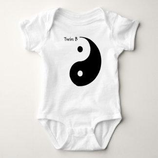 Yin Yang T-Stück für Zwillinge - Doppelb Baby Strampler