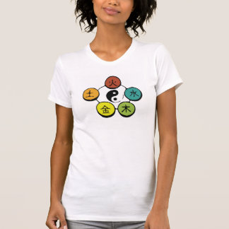 Yin-Yang und fünf Elemente T-Shirt