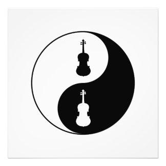 Yin Yang Viola Fotodruck