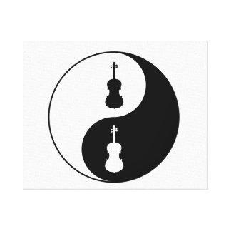 Yin Yang Viola Leinwanddruck