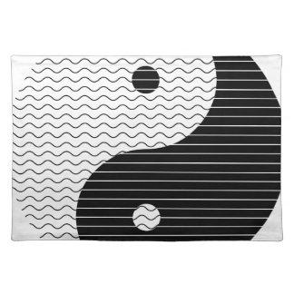 Yin Yang Wellen Tischset