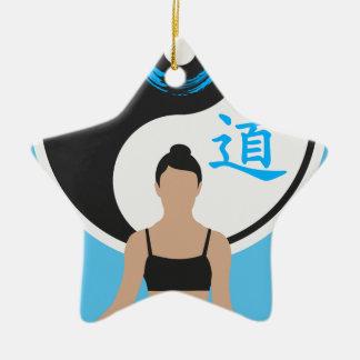 Yin Yang Yoga-Frieden Keramik Stern-Ornament