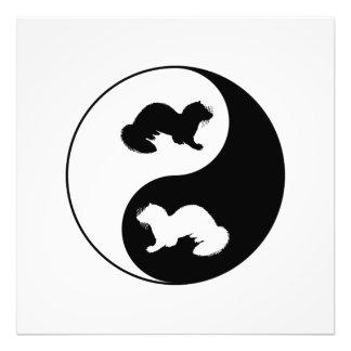 Ying und Yang-Frettchen Fotodruck