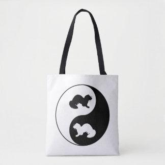 Ying und Yang-Frettchen Tasche