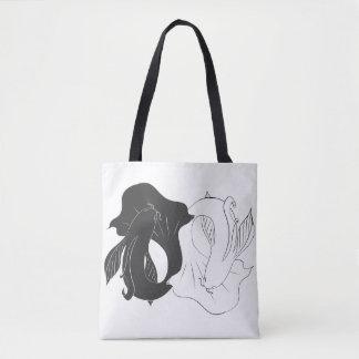 Ying und Yang koi Tasche