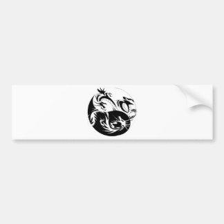 Ying Yang Drachen Auto Sticker