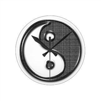 Ying Yang Runde Wanduhr