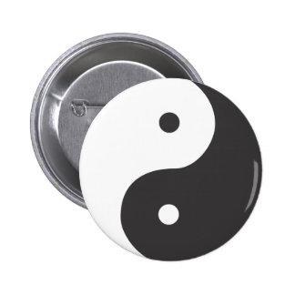 Ying Yang Runder Button 5,7 Cm