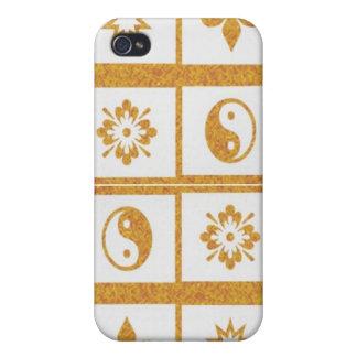 YinYang Fleur de Lys - 4 künstlerische niedrige P iPhone 4 Schutzhülle