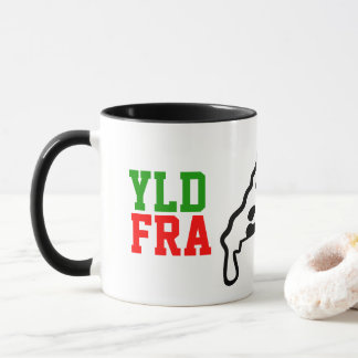YLD FRA Pizza-Logo-Tasse (325ml) Tasse