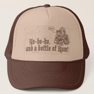 Yo Ho Ho Flasche Piraten-Rum Truckerkappe