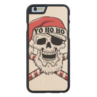 Yo ho ho - Pirat Sankt - lustiger Weihnachtsmann Carved® iPhone 6 Hülle Ahorn