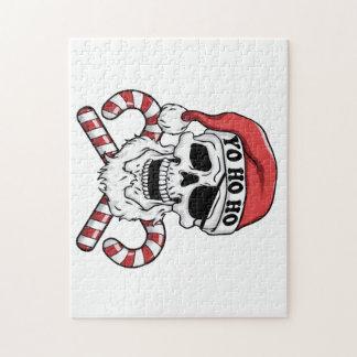 Yo ho ho - Pirat Sankt - lustiger Weihnachtsmann Puzzle
