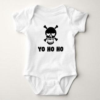 Yo Ho Ho Piraten-Schädel Baby Strampler