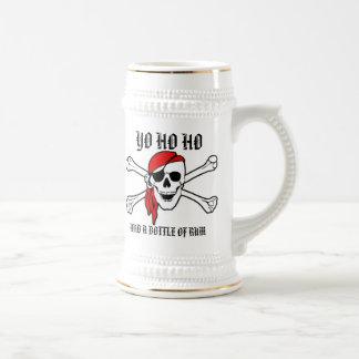 Yo Ho Ho und eine Flasche Rum Stein Bierglas
