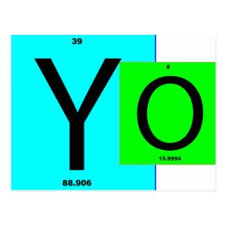 YO Quadrate Postkarte