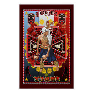 Yoeme Yaqui Rotwild-Tänzer-Kunstdruckplakat Poster