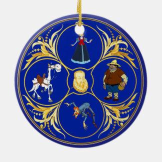 #YoEstrellaCervantes u. Planeten Rundes Keramik Ornament