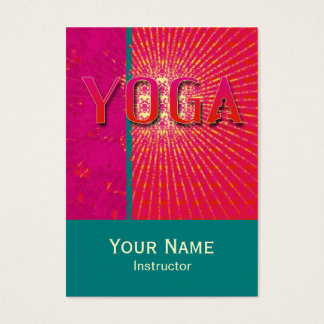 Yoga 1 - Geschäft, Zeitplan-Karte Visitenkarte