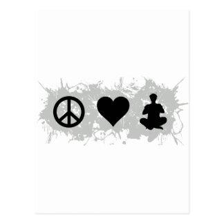 Yoga 2 postkarte