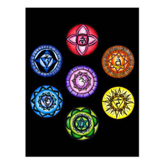 Yoga - 7 Chakras Energie Postkarten