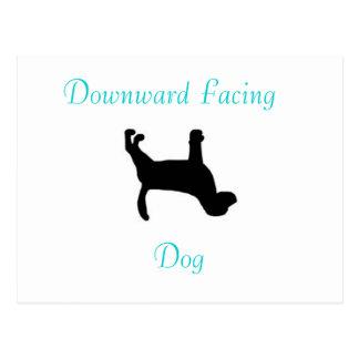 Yoga-abwärtsgerichtete Hundepostkarte Postkarte