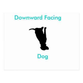 Yoga-abwärtsgerichtete Hunderückzug-Postkarte