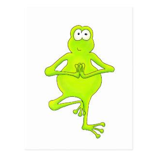 Yoga-Baum-Frosch Postkarte