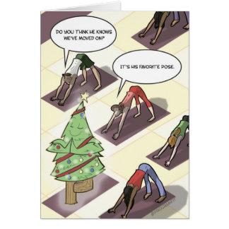 Yoga-Baum-Pose-Feiertags-Karte Grußkarte