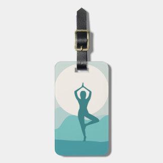 Yoga-Baum-Pose Gepäckanhänger