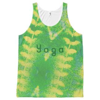 Yoga belaubt komplett bedrucktes tanktop